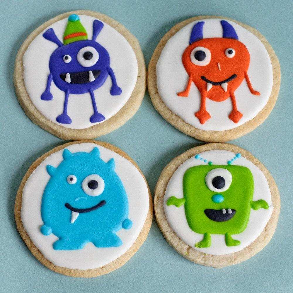 Monster Halloween Cookies: Monster Cookies Halloween Treats One Dozen