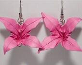 Hot Pink Flower Earrings