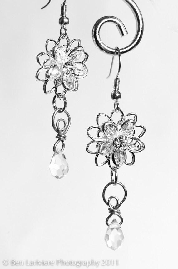 Swarovski Filigree Crystal Drop Earrings