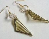 Small Musical Earrings, Small Harp Earrings, Orchestra Earrings, Symphony Earrings, Harp