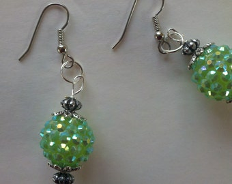 Dark Green Earrings, Green earrings, Green ear dangle, Emerald green dangles, Green Jewelry, dark green earring, Bright Jewellery