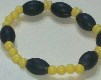 Yellow and Black, Bracelet and Earring Set