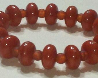 Orange, Pony, Bead Bracelet