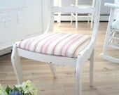Reserved for Heather till fridayShabby chic vintage chair   pink fabric seat
