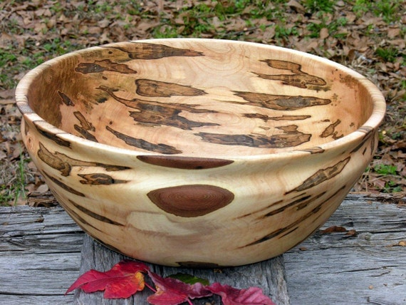 Exceptional Ambrosia Maple Centerpiece Bowl Hand Turned, XXLarge, brown, salad bowl, fruit bowl, wood bowl