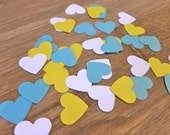 My heart belongs to Tiffany - 3,000 die cut small hearts