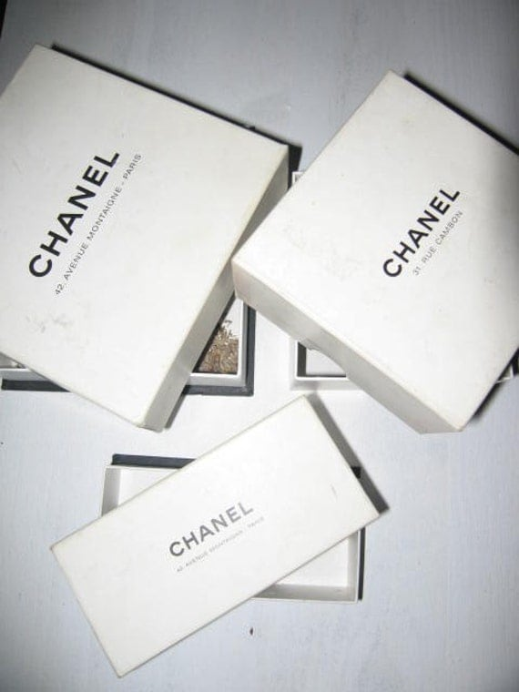 SPRING SALE Lot of three CHANEL boxes