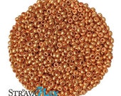 10/0 Metallic Color Gold Seed Beads - sold in one ounce packs - 2200 beads to an ounce - approx 2.3mm diameter - Czech glass beads