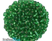 6/0 Lime Green SL Seed Beads - sold in one ounce packs - 480 beads to an ounce - approx 4.0mm diameter - Czech glass beads
