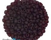6/0 Garnet Red Matte Seed Beads - sold in one ounce packs - 480 beads to an ounce - approx 4.0mm diameter - Czech glass beads