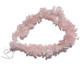 Rose Quartz Chip Beads... 5 x16 Inch strands translucent light pink stone beads