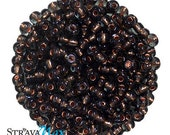 6/0 Black Diamond Copper Seed Beads - sold in one ounce packs - 480 beads to an ounce - approx 4.0mm diameter - Czech glass beads