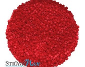DB-0753 11/0 Miyuki Delica Seed Beads - 10 grams - opaque matte  dark red - round cylinder seed beads