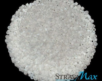 DB-0351 Miyuki Delica Seed Beads - opaque snow white matte beads - round cylinder seed beads