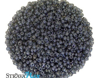 10/0 Black Diamond Luster Seed Beads - sold in one ounce packs - 2200 beads to an ounce - approx 2.3mm diameter - Czech glass beads