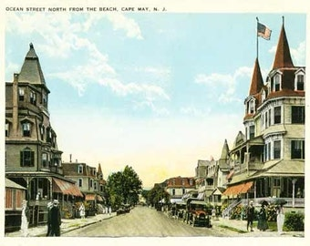 Package of 12 Blank Note Cards,  Cape May, NJ-Three Views
