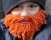 Orange Yarn Beard (youth)