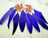 Neon Love  Dream Catcher Earrings  (E486a)