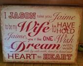Wedding Vows Canvas - Custom Home Decor