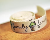 Family Printed Twill Ribbon