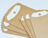 Scalloped Kraft Bags and Tags