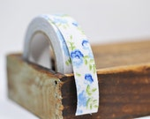Blue Floral Fabric Tape