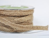 Natural Woven Burlap Ribbon - 5 yards