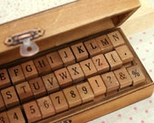 Vintage Wooden Alphabet Stamp