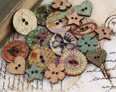 Wooden Buttons  - Prima
