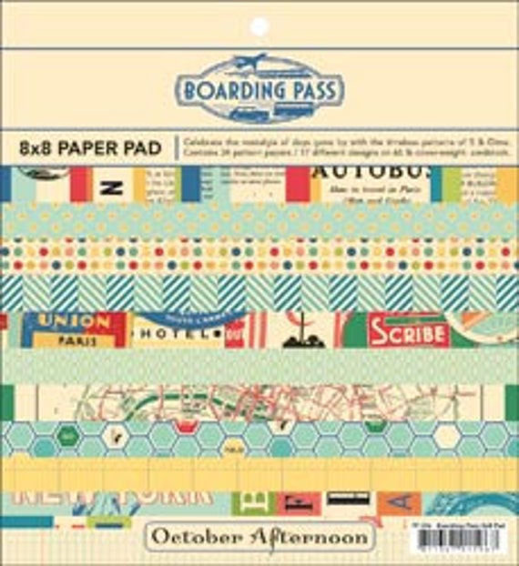 Vintage Inspired Travel Paper - Boarding Pass by October Afternoon