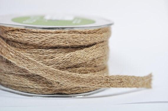 Natural Woven Burlap Ribbon - 5 yards