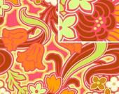 Amy Butler - Soul Blossoms Disco Flower Tangerine 1 yard