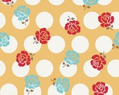 SALE Sew Cherry Sew Rose Dots in Yellow by Lori Holt of Bee in my Bonnet for Riley Blake 1 Yard