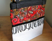 Small Tote with Fringe by three bridges sewing co.