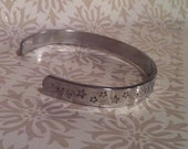 I solemnly swear that I am up to no good. Harry Potter Hand Stamped Cuff Bracelet