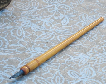 Antique Butterscotch Bakelite Ink Pen--Bow Point USA