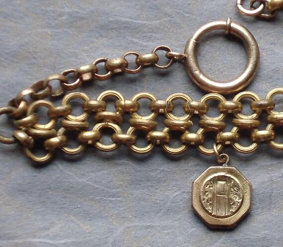 Reserved for Anna ///  Edwardian Gold Filled Locket Bracelet