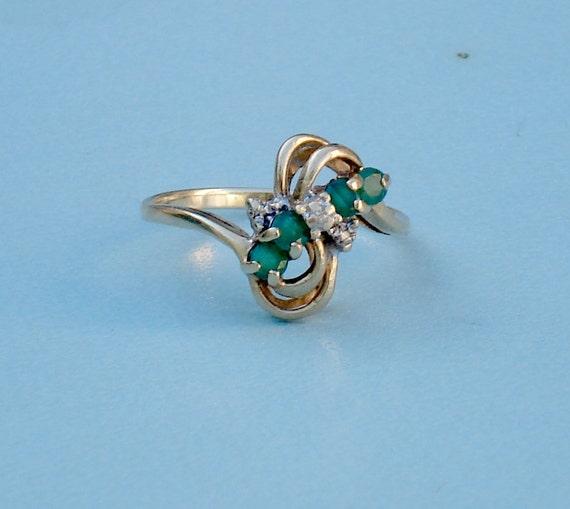 Vintage 10k Gold Emerald Ring