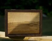 Walnut Curly Soft Maple Box