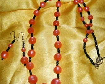 Cool Sherbet Necklace and Earring Set
