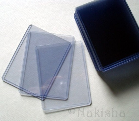 Rigid Plastic Card Holders or Sleeves - ACEO sized - pack of 25