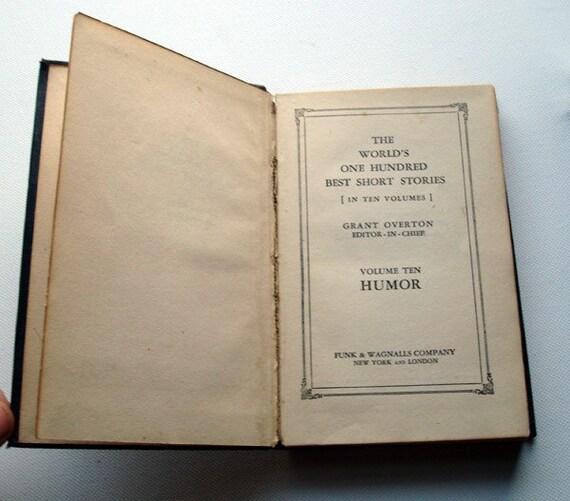 The World's 100 Best Short Stories - Volume X - Humor -1927 - SALE