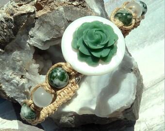 Hand Beaded Macrame Eso Beso-Bracelet-R 616