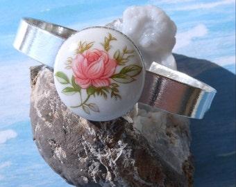 Love Is Beautiful-Like A rose-Sterling Cuff-Bracelet  R 9551