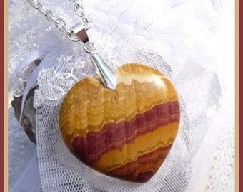Pilbara Jasper Heart-Necklace  U 5322