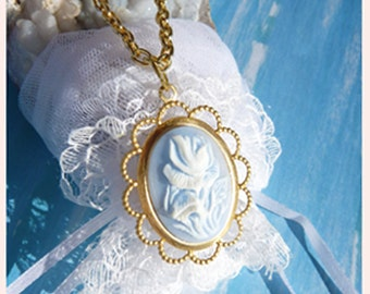 Softly Gently Beautifully Blue- Necklace  U 5514