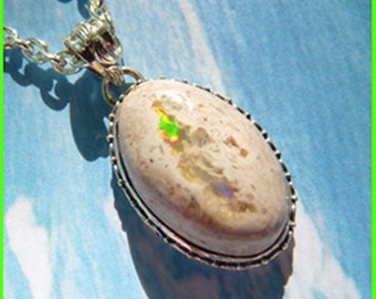 CLEARANCE - Amazing Mexican Fire Opal - Necklace  C 7088