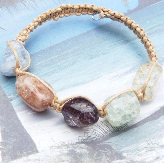 A Piece Of The Rock-Crystal Quartz- Bracelet R 721