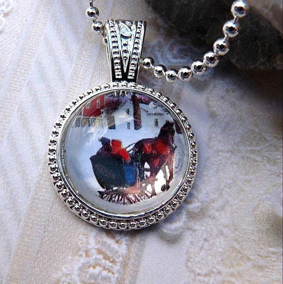 Horse Drawn Sleigh-Necklace R 3042