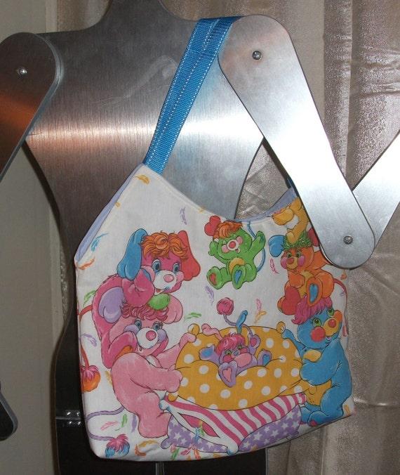Reserved for  Grinsemeerschwein         Popples Tote / Purse 00ak-- Handmade  PJ- Party- Puffball- Pancake